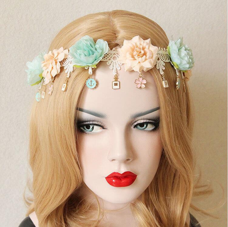 gaya bohemia bunga rumbai tangan membuat wanita pantai travel foto aksesoris rambut hairbands perempuan kecantikan lebar
