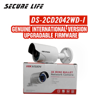 DS 2CD2042WD I English version 4MP IR Bullet Network Camera, P2P ip security CCTV camera POE, support H.264+