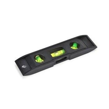 2 шт. STARTORQUE 0-230 мм Вертикальная линейка магнит пузырьковый водопроводчик черный пластик Spirit level Leveler торпедная линейка измеритель уровня воды
