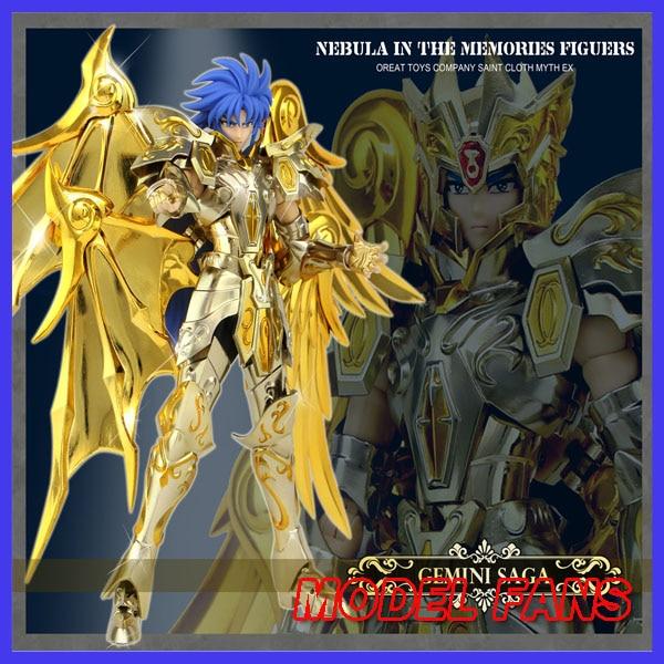 MODEL FANS IN-STOCK GreatToys Great toys  EX soul of Gold sog gemini saga Saint Seiya metal armor Myth Cloth  Action Figure