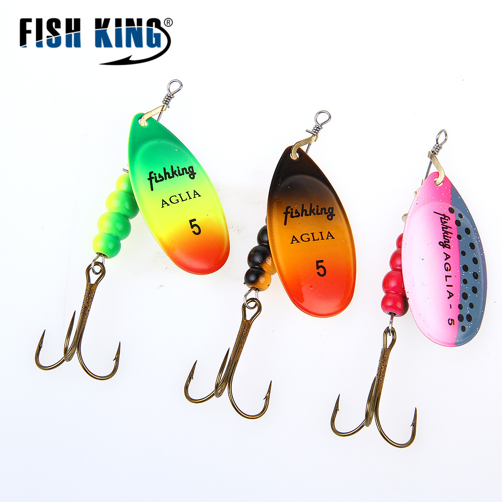 Fish king spinner bait mepps 1pc 3 color 1 2 3 4 5 for Spinner fishing lures