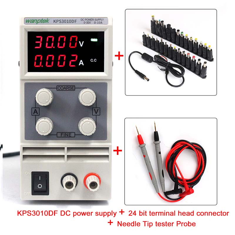 High precision 0-30V/0-10A double display switch dc power Current limiting protection low noise switch power kps3010d adjustable high precision double led display switch dc power supply protection function 30v10a 110v 230v