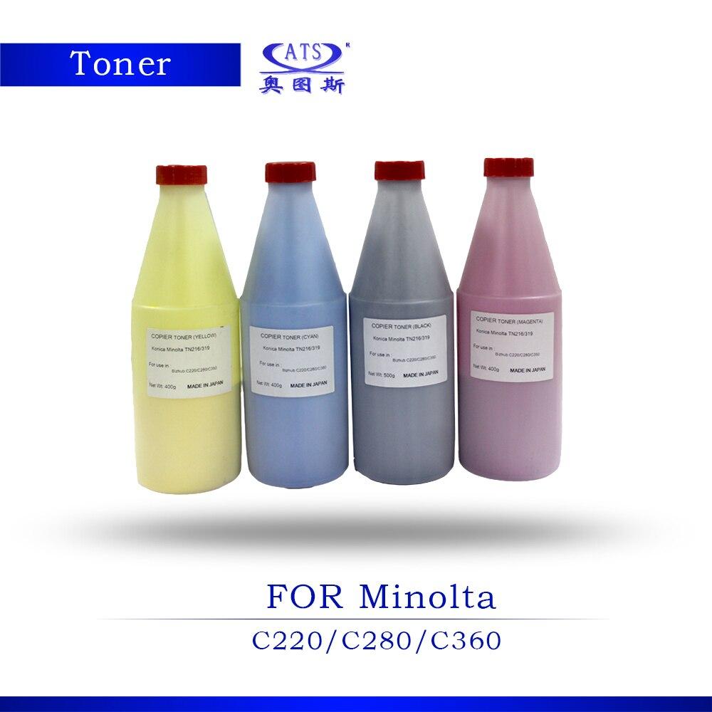 1PCS CMYK TN216 TN319 Toner cartridge For Konica Minolta C220 C280 C360 Copier Spare Parts Grade A Toner Powder high quality color toner powder compatible for konica minolta c203 c253 c353 c200 c220 c300 free shipping
