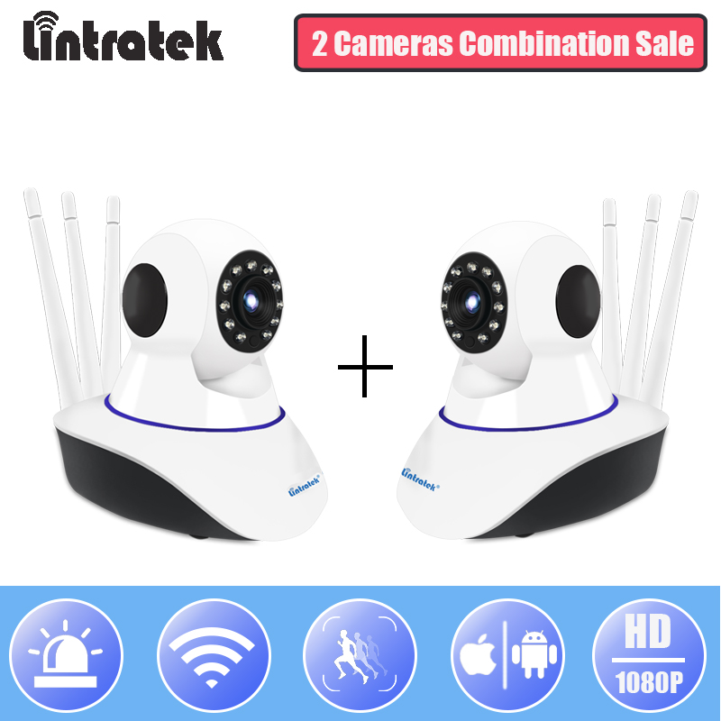 Lintratek IP WiFi Security Camera HD 1080P Mini Video Surveillance CCTV Camera Combination Sale Wireless PTZ Home Monitor IPCam