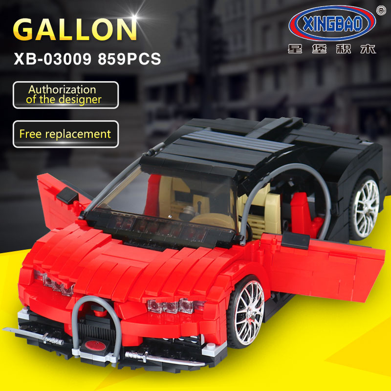 XingBao 03009 Creative MOC Technic Series The Gallon Supercar Set Children Educational Building Blocks Bricks legoing Toys Model xingbao 01001 creative chinese style the chinese silk and satin store 2787pcs set educational building blocks bricks toys model