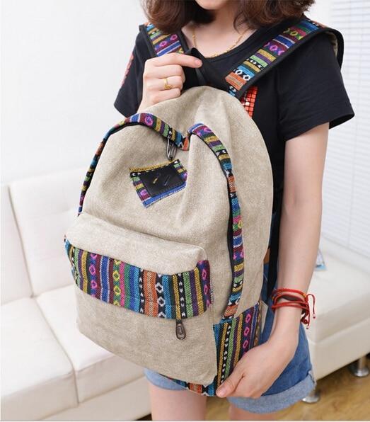 Бесплатная доставка/Горячие Корейской версии случайных женщина сумки двойной национальный ветер рюкзак рюкзак моды хит цвет студент книга мешки