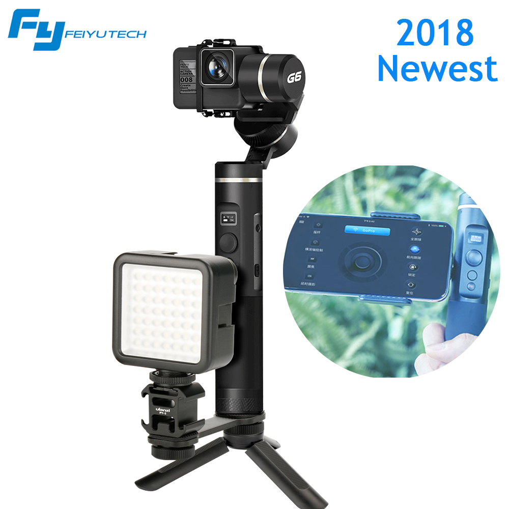 Feiyutech G6 Gimbal Splash Proof Bluetooth OLED Screen Handheld Stabilizer for GoPro HERO 5 4 RX0 Yi 4k AEE,New Arrival G6Plus