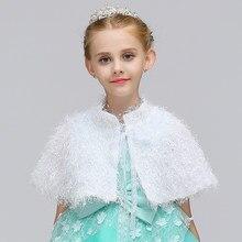 d9f90ba7f Venta al por menor bastante encantadora Kids capa primavera y otoño del cabo  para el vestido decorar con encaje Cinturón de piel.