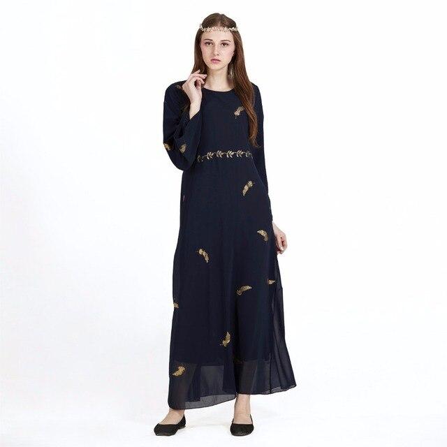 Tradisional Arab Pakaian Abaya Sifon Gamis Wanita Panjang Besar Dubai Turki  Muslim Jilbab Islam Modis Panjang 4887da8066