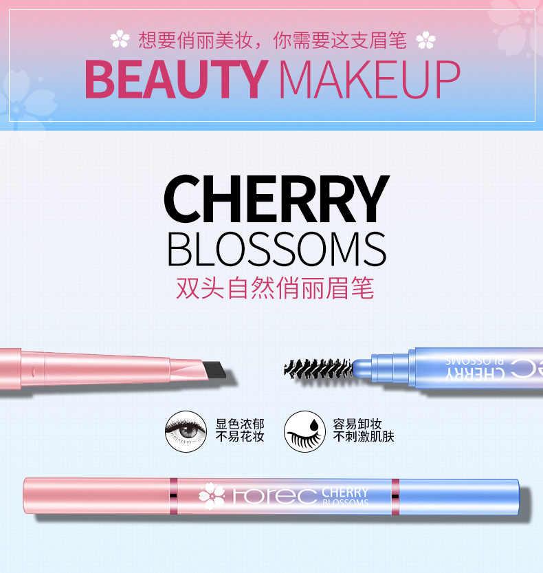 Crayon à sourcils Double tête automatique étanche avec brosse longue durée Durable stylo à l'arc cosmétique outils de maquillage 3 couleurs