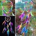 Handmade Rainbow Dream Catcher Dreamcatcher Carro Pendurado Casa Jardim Decoração Talão Penas Ornamento Artesanato Presente Do Carro Estilo Do Carro