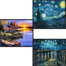 Украшения дома DIY 5D полный алмазов вышивка Ван Гог Звездная ночь вышивки крестом наборы абстрактная живопись маслом смолы ремесло