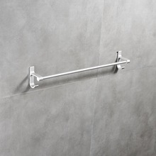 SmileMonkey Space aluminum towel bar rack bathroom kitchen wall-mounted polished holder single