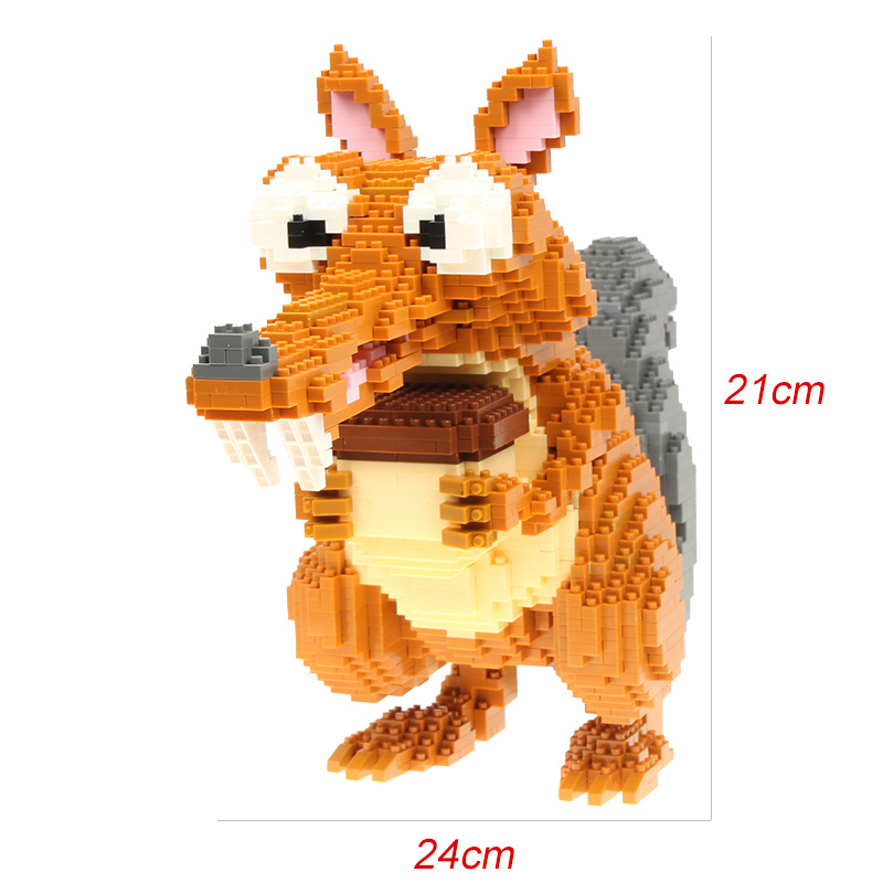 Big size 2200pcs Mini Bricks Micro blocks DIY Squirre Building Toys Cute Cartoon Juguete Auction Figures Kids Gifts 16005 1500 2200 pcs big size plastic cute cartoon designs of mini nano blocks diamond mini block toys for children diy game