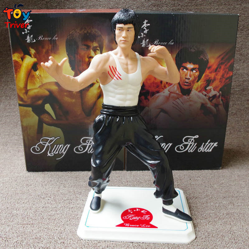 все цены на  28cm Bruce Lee Kung fu Master Li Xiaolong PVC Action Figure Model Doll Toy Birthday Christmas Gift for Man Boyfriend Triver  онлайн
