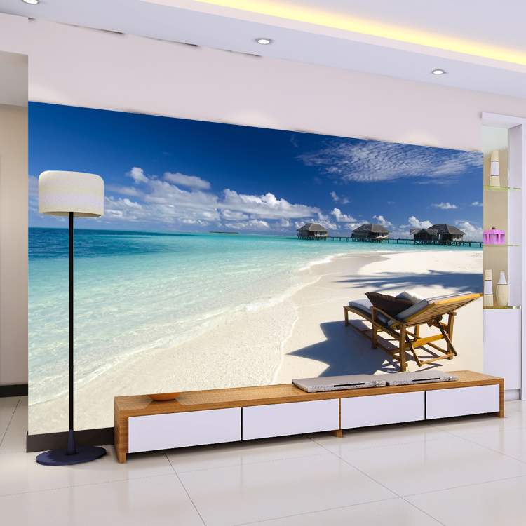 Beach Tourism Wall Paper Fototapete 3d Duvar Kaplama Mural Wallpaper ...