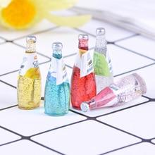 Mini Resin Fruit Bottle Simulation Drinks Model Toys Drink Play 1/12 Miniature Food Dollhouse Dolls Accessories