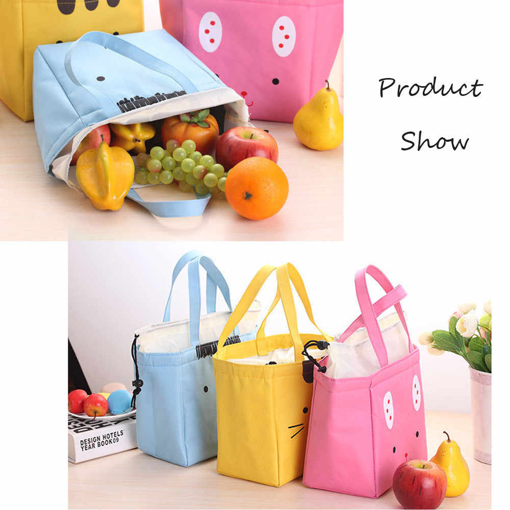 f8ba55663c94 Lunch Box Cute Animal Thermal Insulated Tote Cooler Bag Bento Pouch Lunch  Container Student convenient cartoon lunch bag