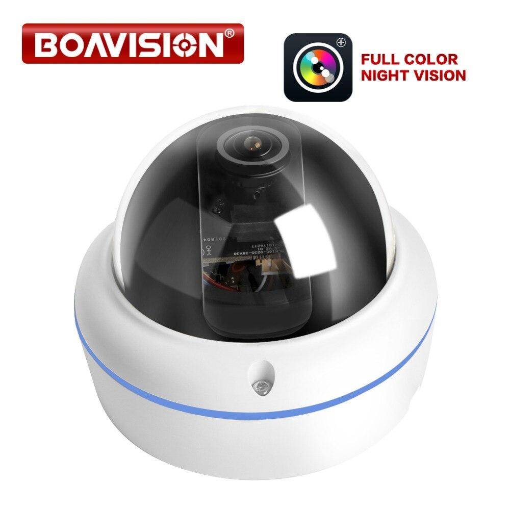 HD 1080P Macchina Fotografica del IP di POE Starlight Esterna Della Cupola del CCTV Nightvision Full Color Lente Fisheye Telecamere di Sicurezza di Sorveglianza-in Telecamere di sorveglianza da Sicurezza e protezione su  Gruppo 1