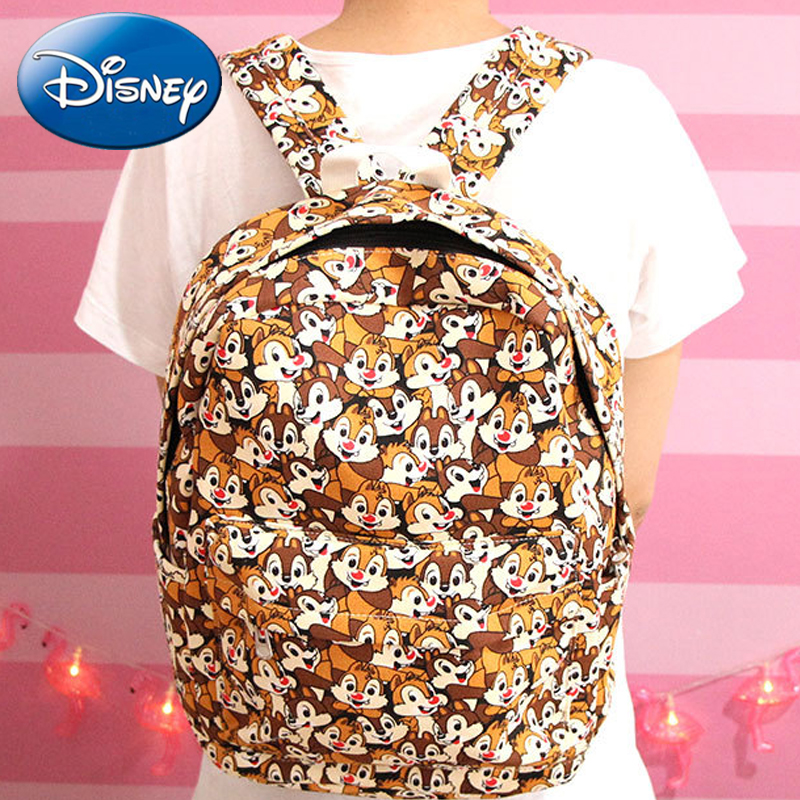 Disney Fashion Kids Backpack Girls 3D Lovely Chip 'n' Dale School Bags Cute Animals Design Canvas Children Backpacks Kids Bag