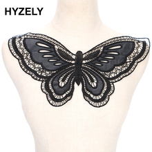 Embroidered Lace Embellishment Sewing-Supplies Trimming Neckline-Collar Applique Butterfly