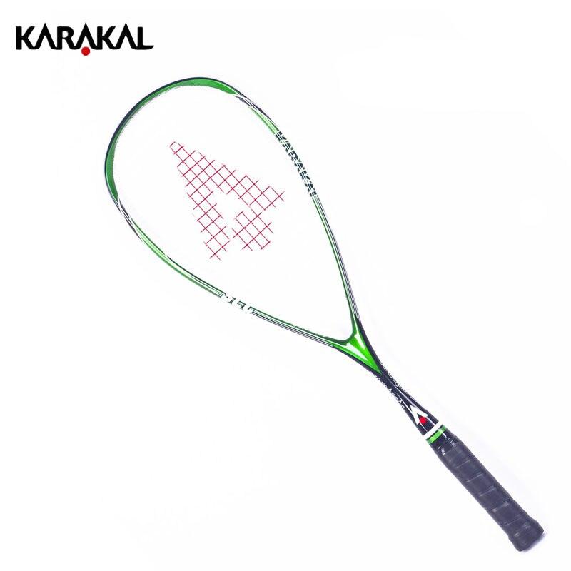100 Carbon Squash Racket Karakal Squash Racquet With Bag Squash Paddle Raquete Squash Sport Tarining Racket