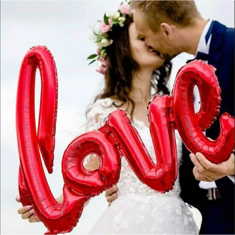 US $1.06 32% OFF|LOVE Letter Foil Balloon Heart Anniversary Wedding Valentines Balloons Heart For Birthday Party Decoration Cup Photo Props XNS6-in Ballons & Accessories from Home & Garden on Aliexpress.com | Alibaba Group