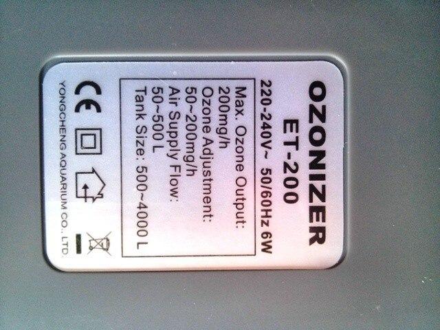 Weipro ET200 ozoniseur d'ozone 200 mg peut fonctionner avec l'écumeur de contrôleur orp-in Filtres et accessoires from Maison & Animalerie    1