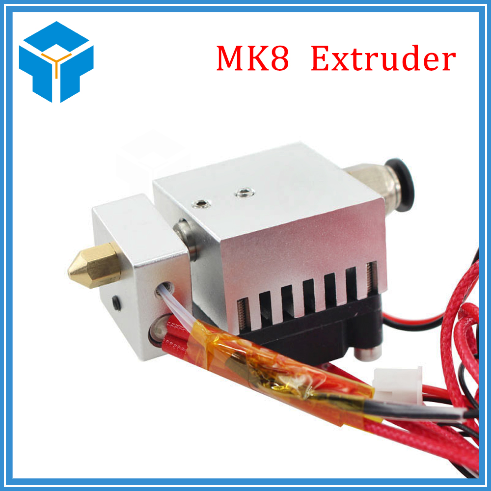 3D Printer kit Newest MK8 Extruder With Cooling Fan For 3D Printer Parts Aluminium Extruder For Filament 1.75mm 3D Accessories