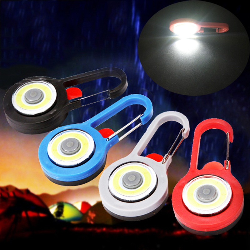 Portable LED Flashlight Carabiner Lamp Keychain Light Torch Lamps 3 Modes Emergency Camping Tent Lamp Pocket Backpack Lights