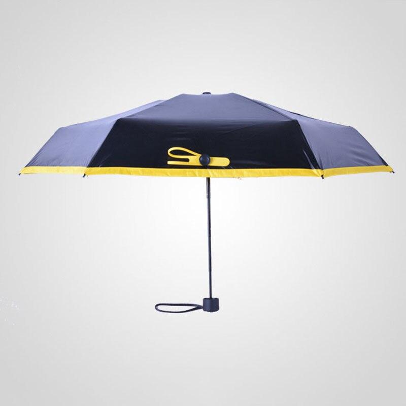 Small Umbrella Portable Mini Five Folding Rain Women Uv Protection Umbrellas Sun Fully Automatic In From Home