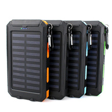 New Arrival Solar Power Bank Real 20000 mAh Dual USB External Waterproof Polymer Battery Charger Outdoor Light Lamp Powerbank waterproof solar power bank real 20000 mah dual usb external polymer battery charger outdoor light lamp powerbank universal