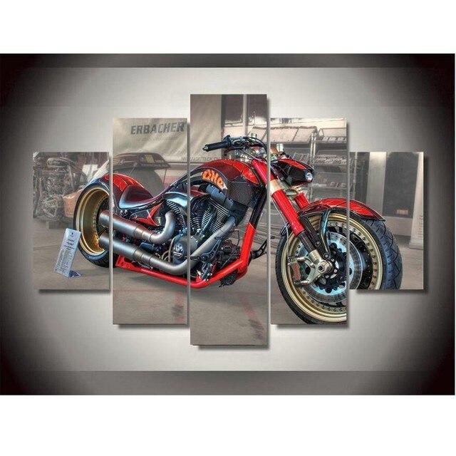 Hervorragend Leinwand Drucke Konzept Motorrad Malerei Wandkunst Dekoration Leinwand  Gerahmte Kostenloser Versand