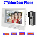 "7"" Wired Video Door Phone Doorbell Intercom Home Security System LCD Monitor Outdoor door Camera night vision unlock"
