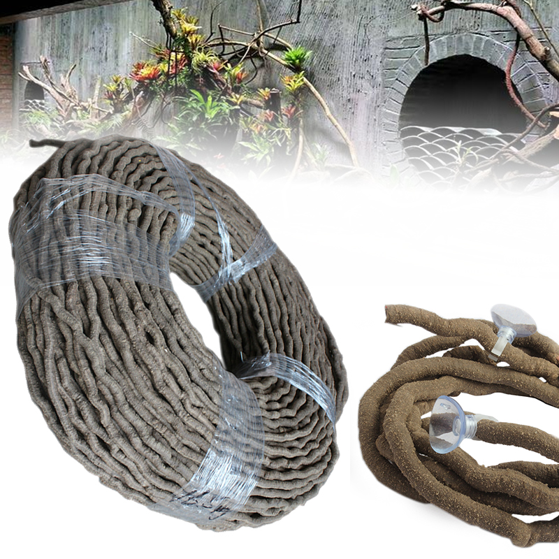 1PC Reptiles Flexible Terrarium Reptile Jungle Vines Flexible Bendable Vines Climber Habitat Decor Not Suction Cup Included
