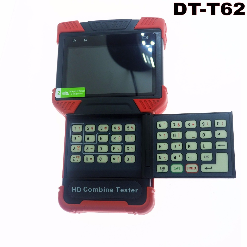 4.0'' AHD Handheld Security HD Combine Tester IP Camera Tester CCTV Monitor Tester DT T62 with AHD + IPC + TDR +POE+ Analog