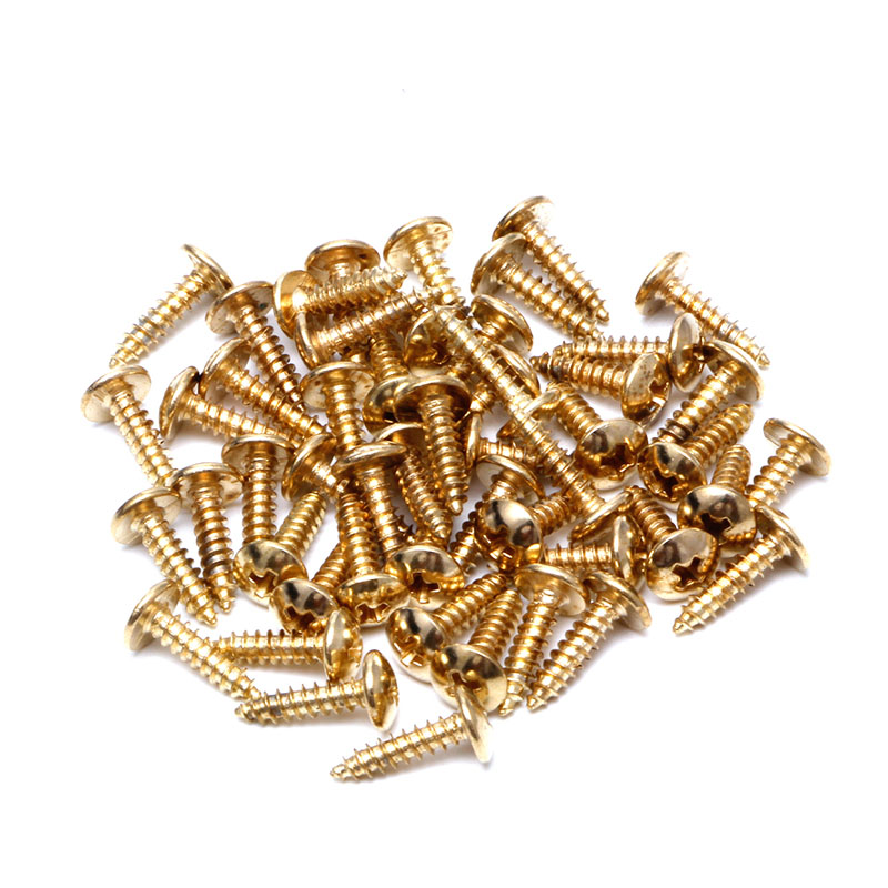 50Pcs Golden Guitar Bass Pickguard Mounting Screws Guitar Parts For ST TL LP SG Guitar image