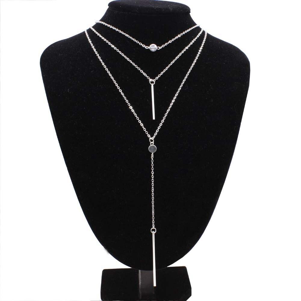 FUNIQUE Hot Fashion Gold Color Multilayer Tassels Necklaces