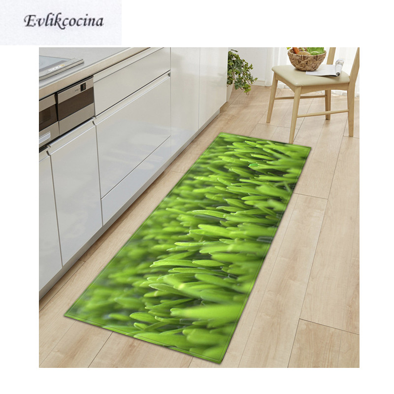 Free Shipping Light Green Grass  Non-Slip Absorbent Bath Mat Area Rug For Living Room Bedroom Floor Carpet Tapete Infantil