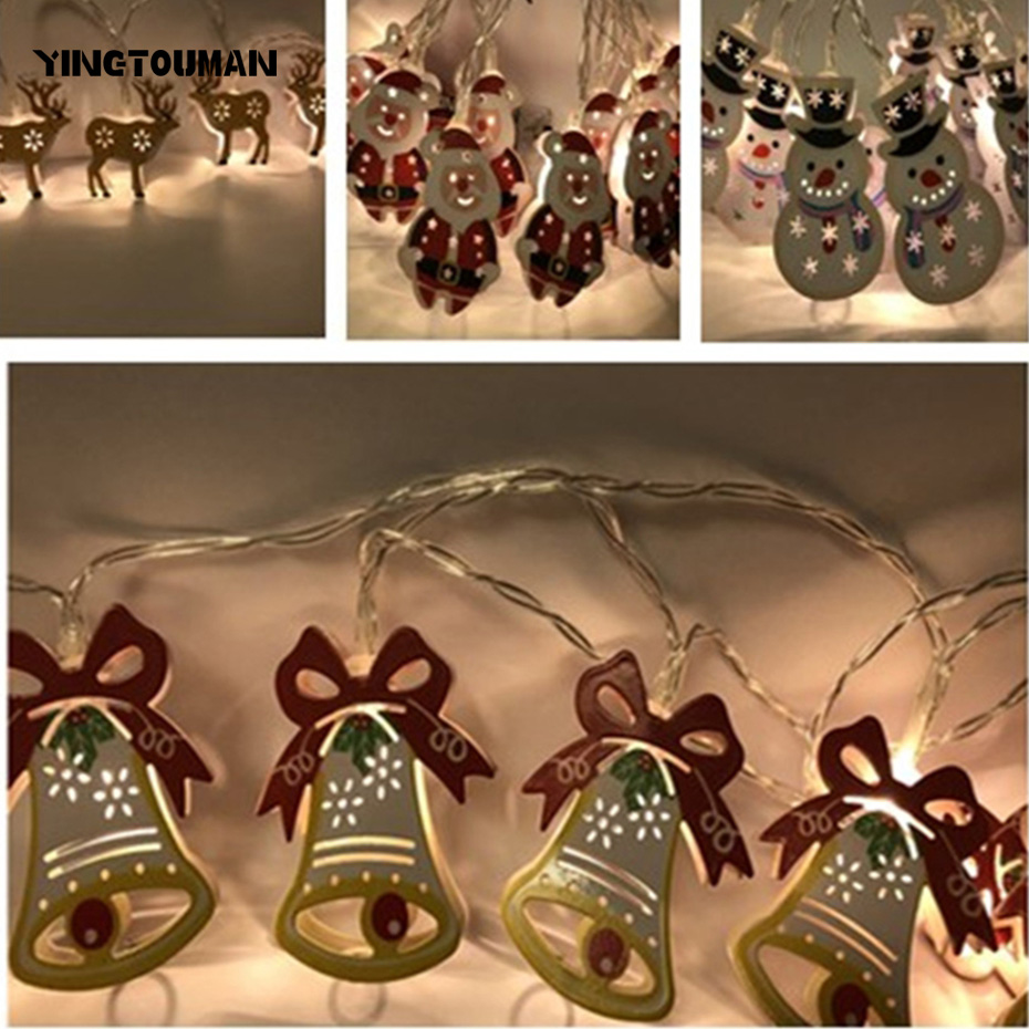 YINGTOUMAN Iron Battery/USB/Plug Christmas Holiday Party Decoration Light Wedding String Lights Outdoor Decorative Lamp 5m 20LED