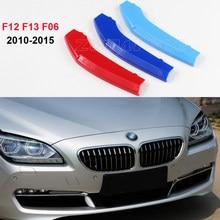 Bandes autocollantes de couverture de calandre, 3D M, pour BMW série 6 F12 F13 F06 2010 2015 650 coupé Convertible Gran Coupe, garniture de calandre