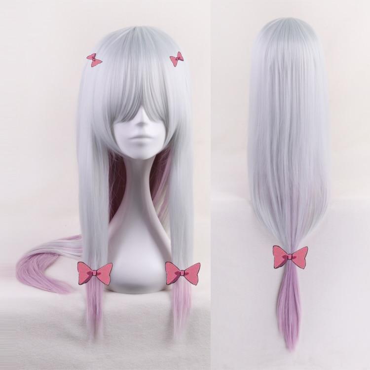 Wigs Eromanga Sensei Izumi Silver Synthetic-Hair Wig-Cap Hairpins Sagiri Mixed Perucas