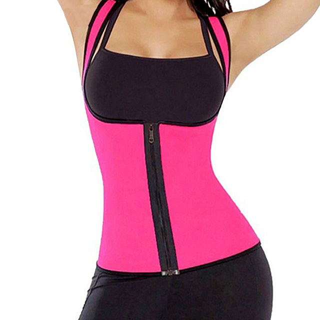Waist Support Brace Belts Body Shaper Slimming Waist Trainer Zipper Vest Women Large Size Waist Trainer Corset Sweat Belt
