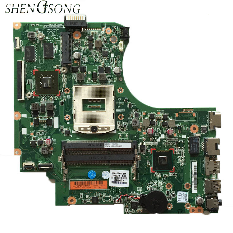766323-001 766323-501 Free Shipping Laptop motherboard 766323-601 For HP 15-D 250 G2 motherboard DDR3 rPGA989, 100% WORKING