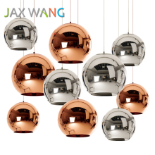LED Glass Ball Globe Pendant Lights Kitchen Dining & Bar E27 Bulb Pendant Lamp Modern Christmas Glass Ball Lighting Luminaire