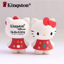 Kingston USB Flash Drive 16gb pen drive cle usb Stick Cartoon Hello Kitty USB flash Memory Disk Lovely Gift pendrive 16gb U Disk