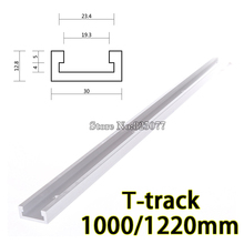 EMS 2PCS T-track T-slot Miter Track Jig Fixture Slot For Router Table Band Saw T-tracks length 1000/1220mm KF867