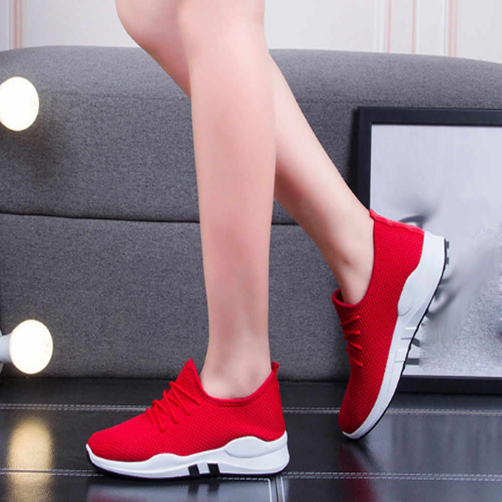 נשים נעלי סניקרס לגברים לנשימה פנאי ספורט נעלי כושר אימון הליכה נעלי אוויר # O
