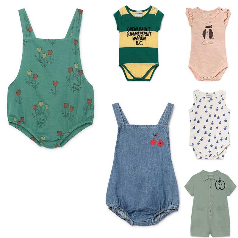 Bobo 2019 Baby   Rompers   Boys Girls Summer Clothes Infant New baby Fashion Brand   Rompers   Bobo Kids Denim One-piece   Romper   For Baby