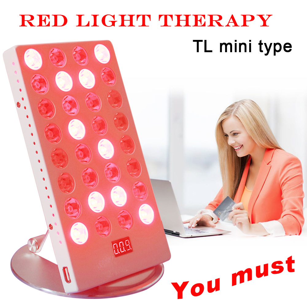 Mini 660nm 850nm Office Desk Led Red Light Treatment With Timer Control Skin Care Physiotherapy Lamp